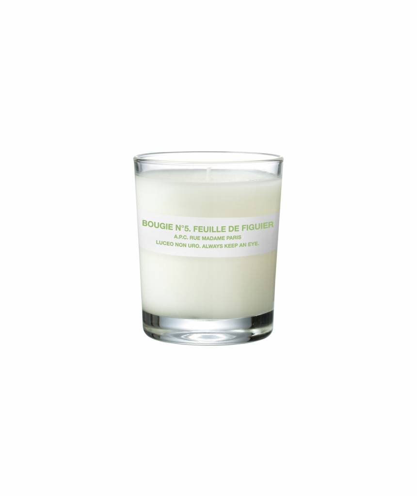 Scented candle fig leave