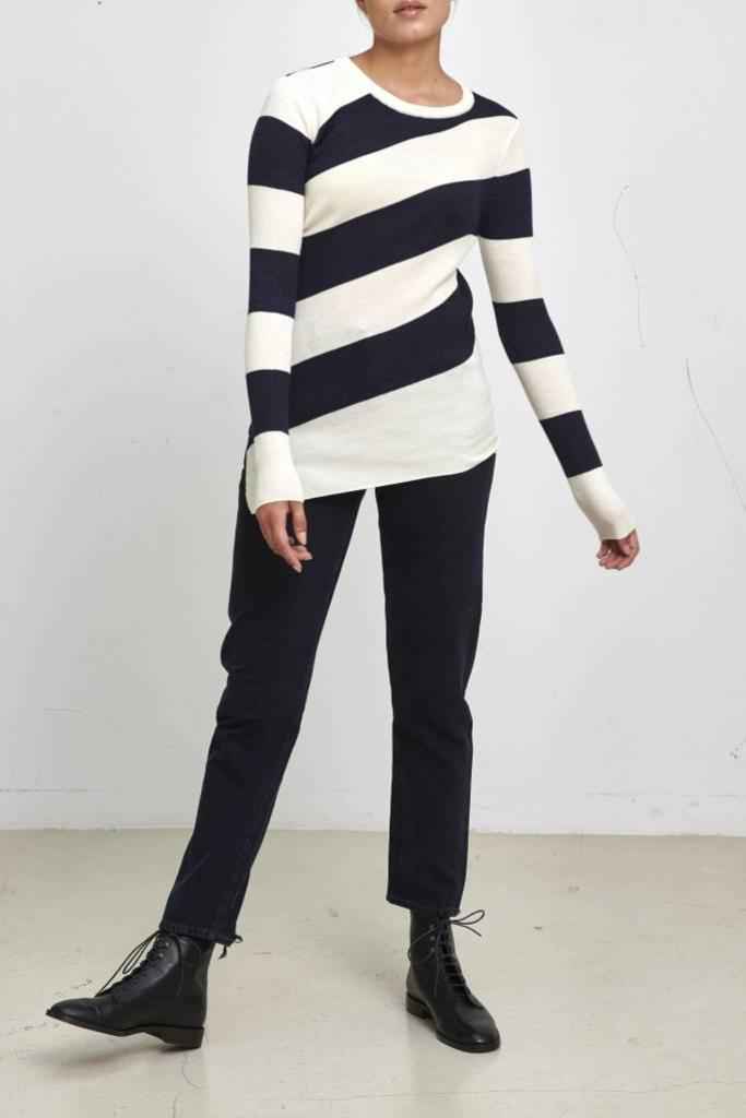 Juluc pullover round ecru/marine