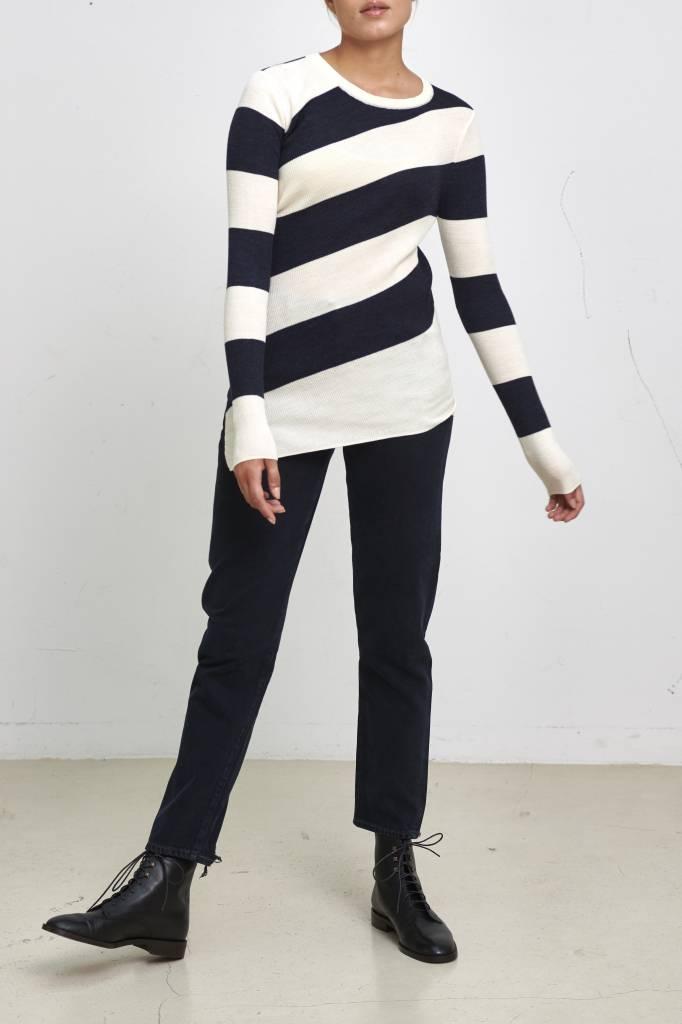 Vanessa Bruno Juluc pullover round ecru/marine
