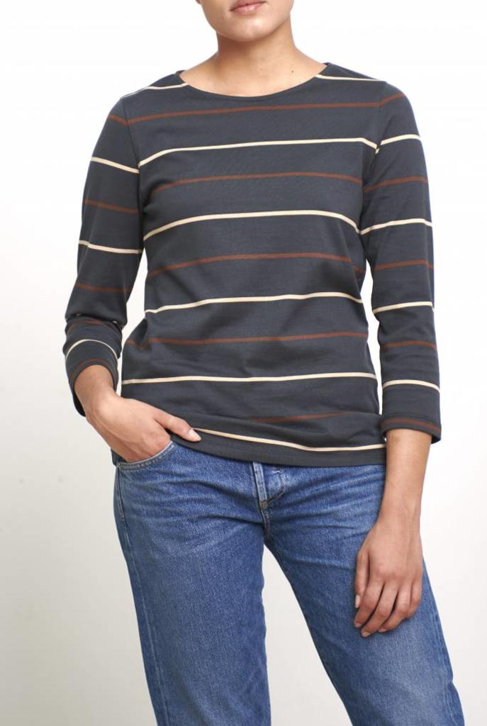 Nikki t-shirt anthracite stripe