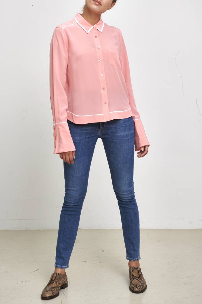 Equipment Huntley blouse pop pink