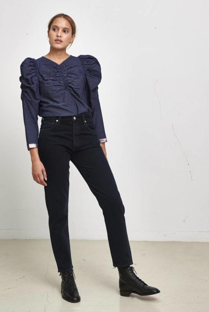 Posey blouse midnight stripe lurex