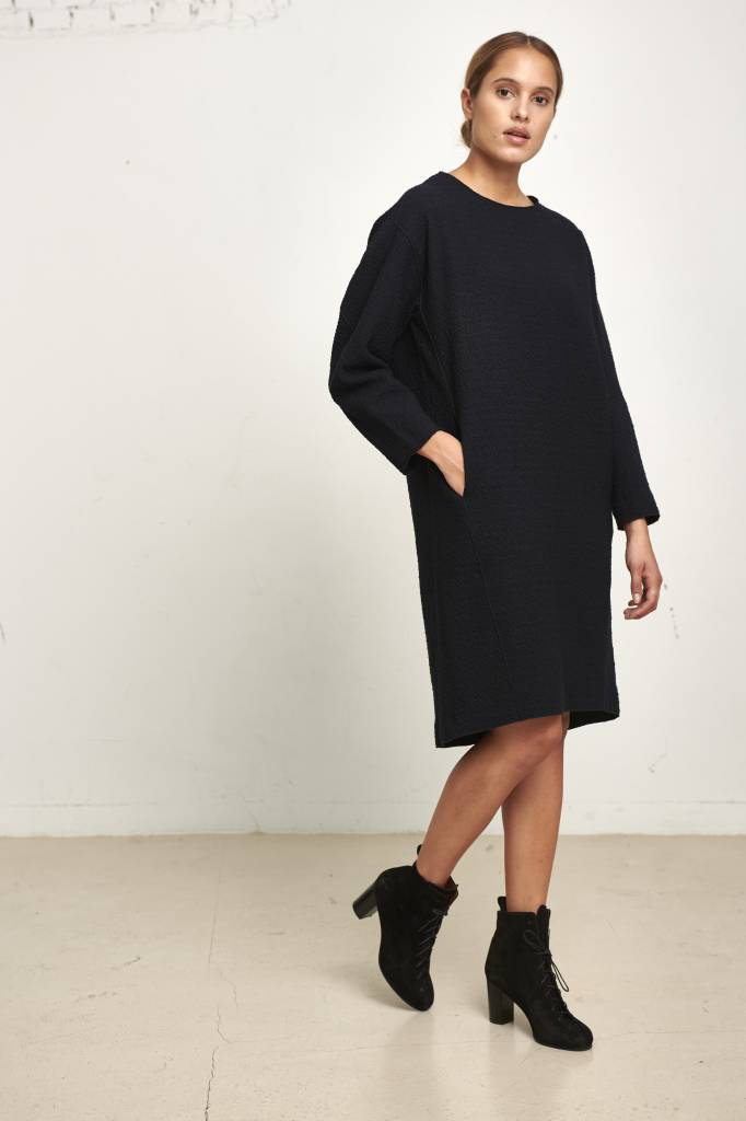 Pomandère knitted dress dark blue