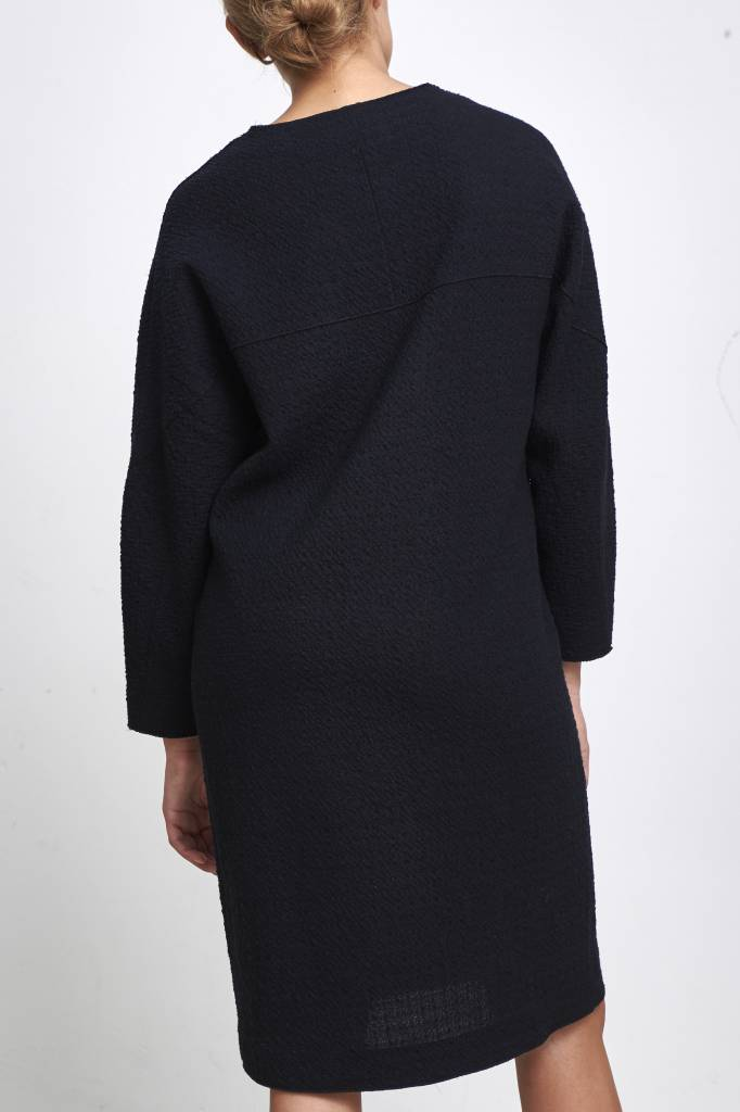 knitted dress dark blue