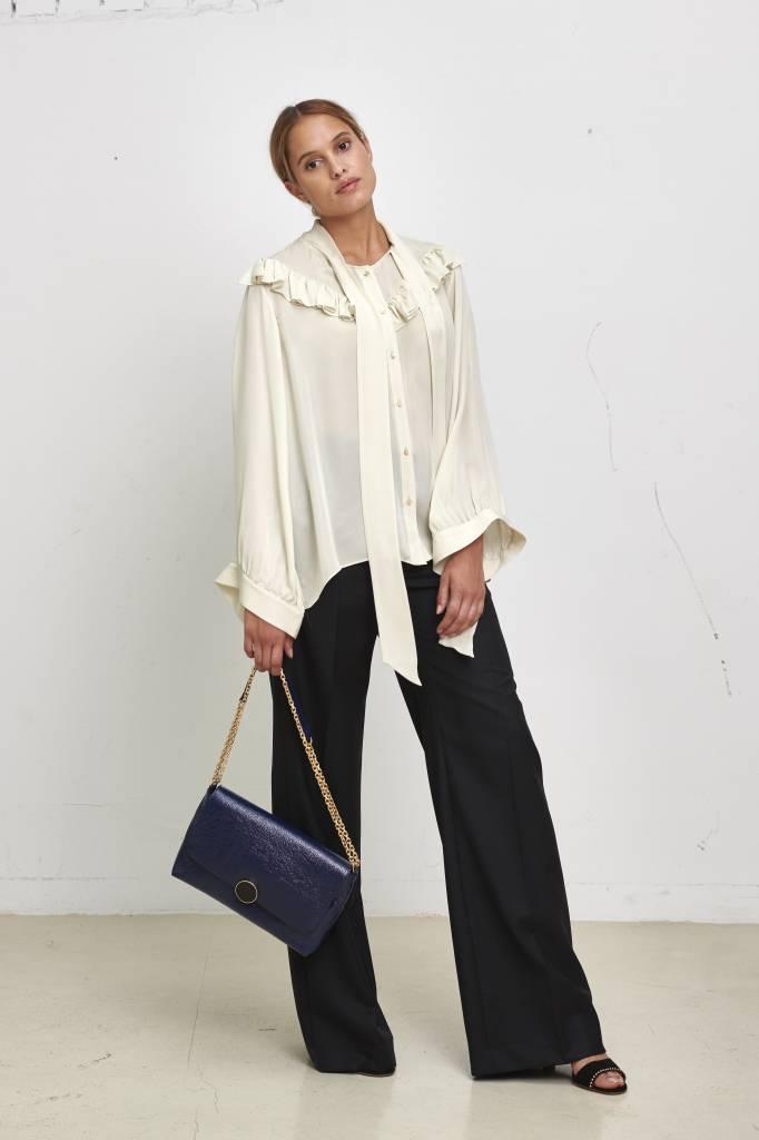 Vanessa Bruno Moon souple handbag dark blue