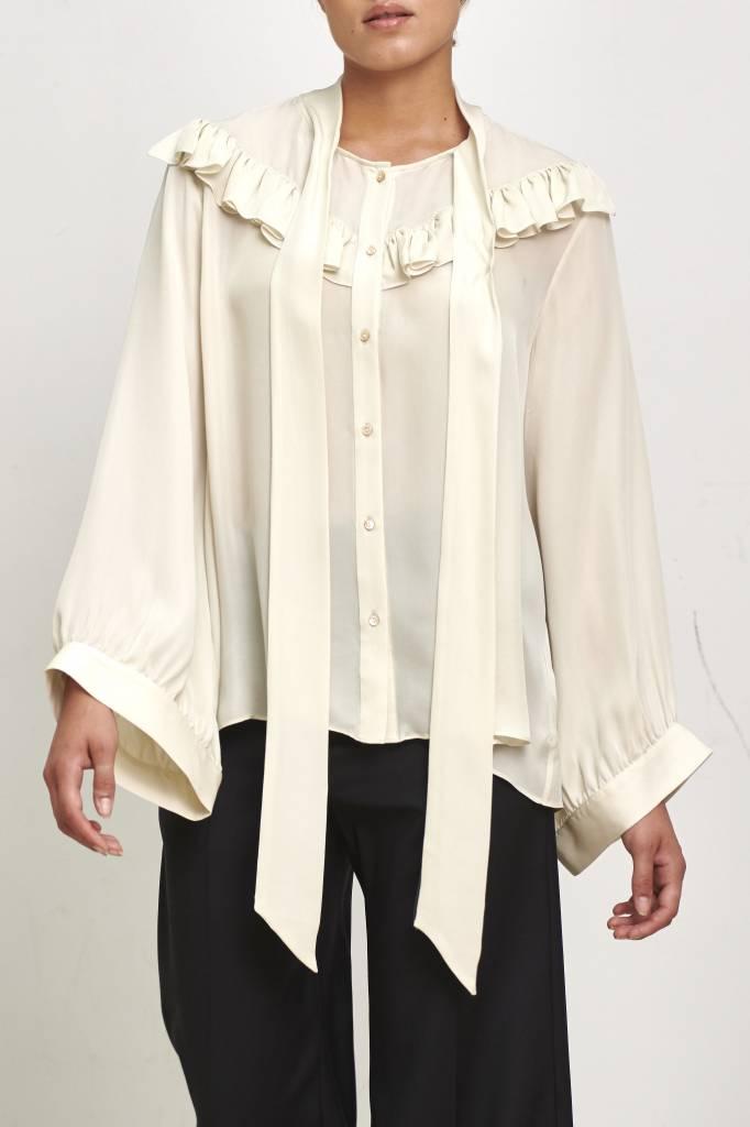 Nili Lotan Vanna blouse ivory