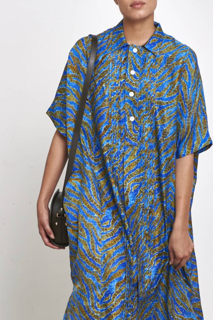 Hope Tuck dress blue print