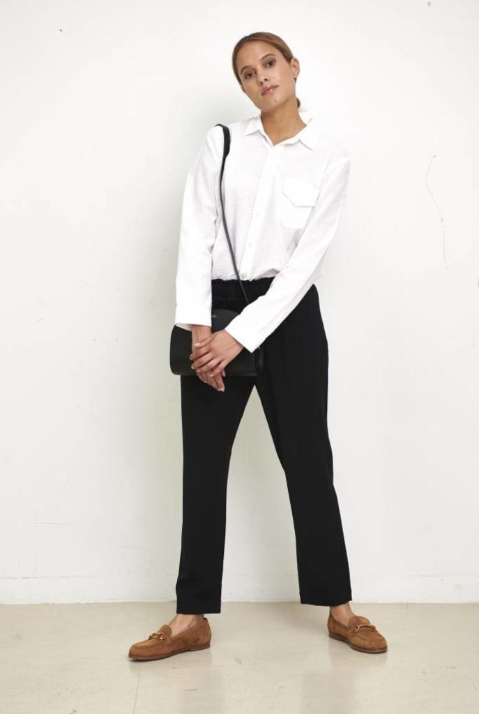 elastic pants black