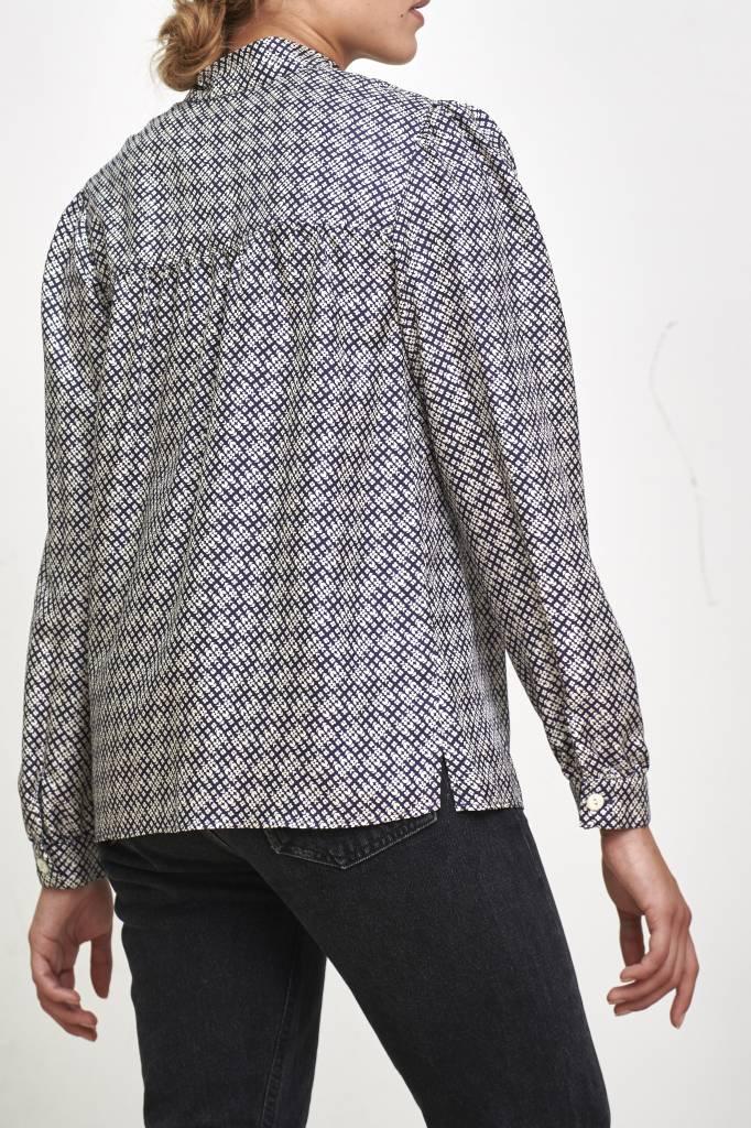Loula blouse dark navy