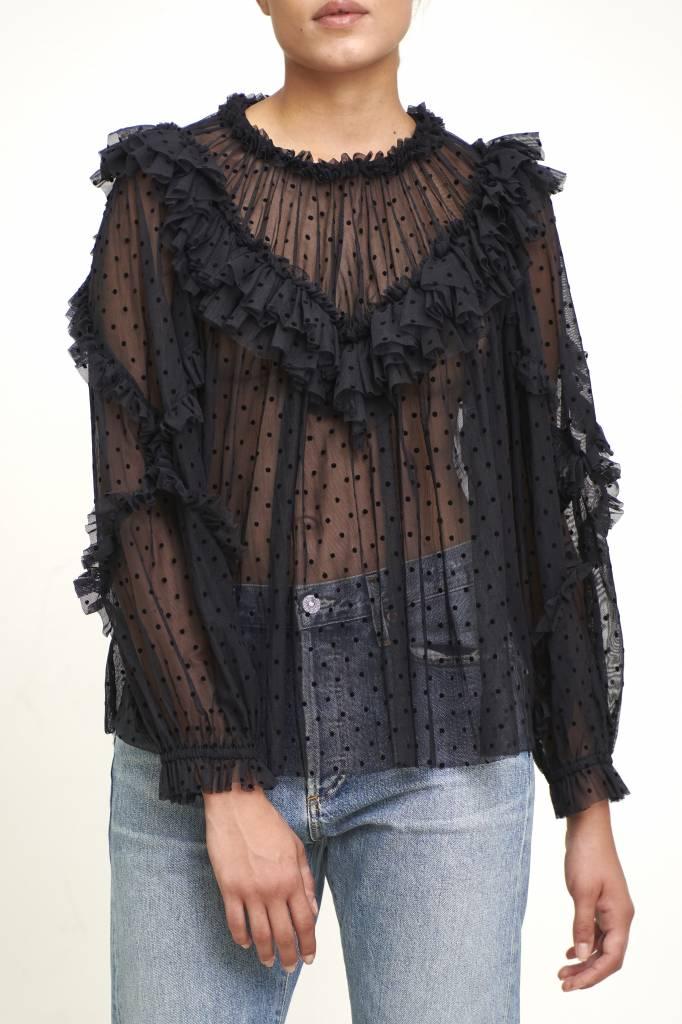 Ulla Johnson Dita blouse black lace