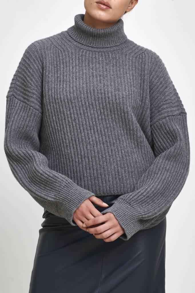 Fine Edge Turtleneck sweater december sky