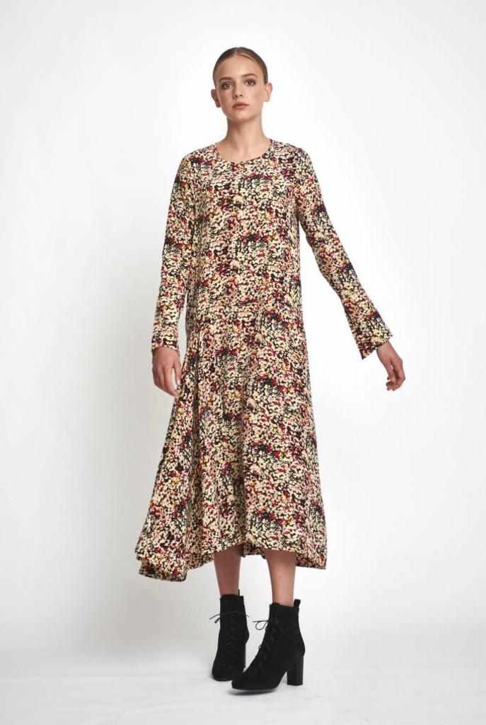 Kai dress abstract flower print