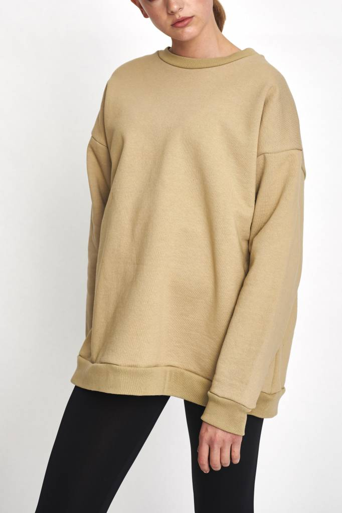Classic sweater new wet sand