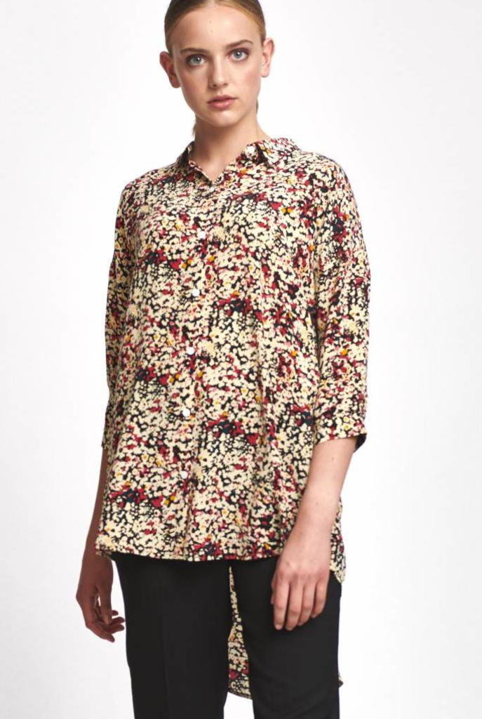 Bianca shirt abstract flower print