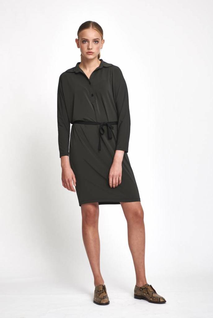 Zoup polo dress anthracite