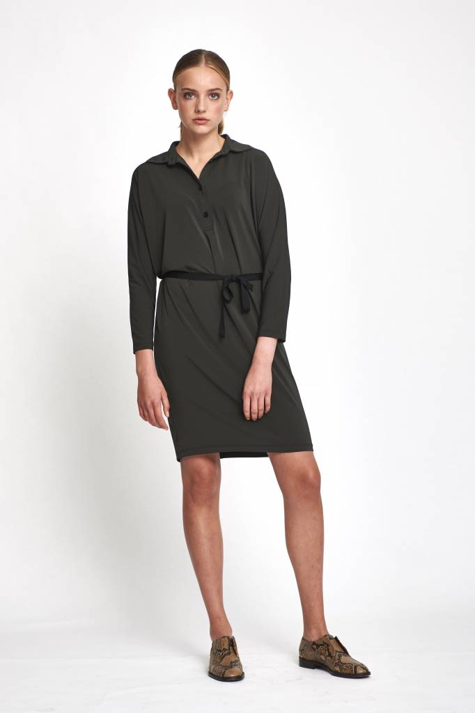 Rue Blanche Zoup polo dress anthracite