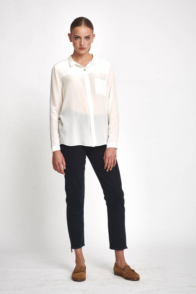 fine silk blouse ivory