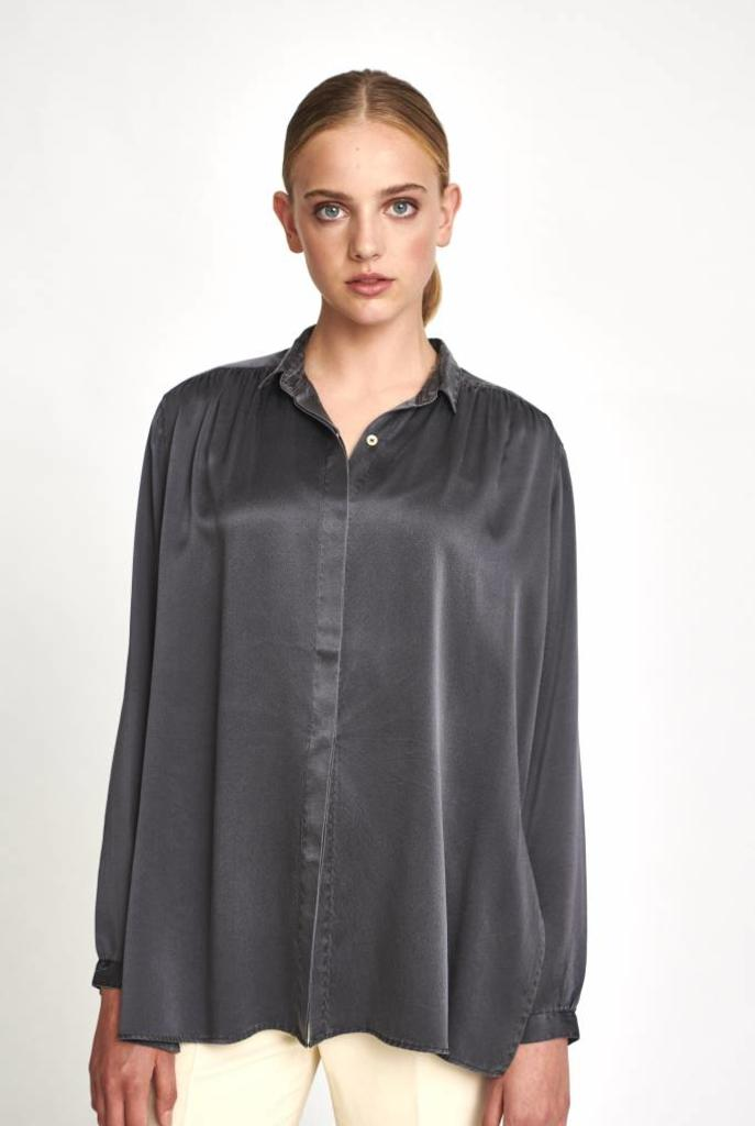 silk blouse washed grey