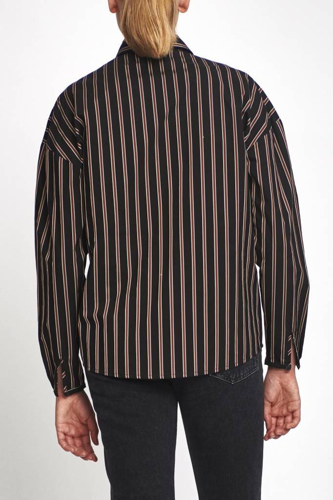 Clarisse blouse in multi coloured stripe