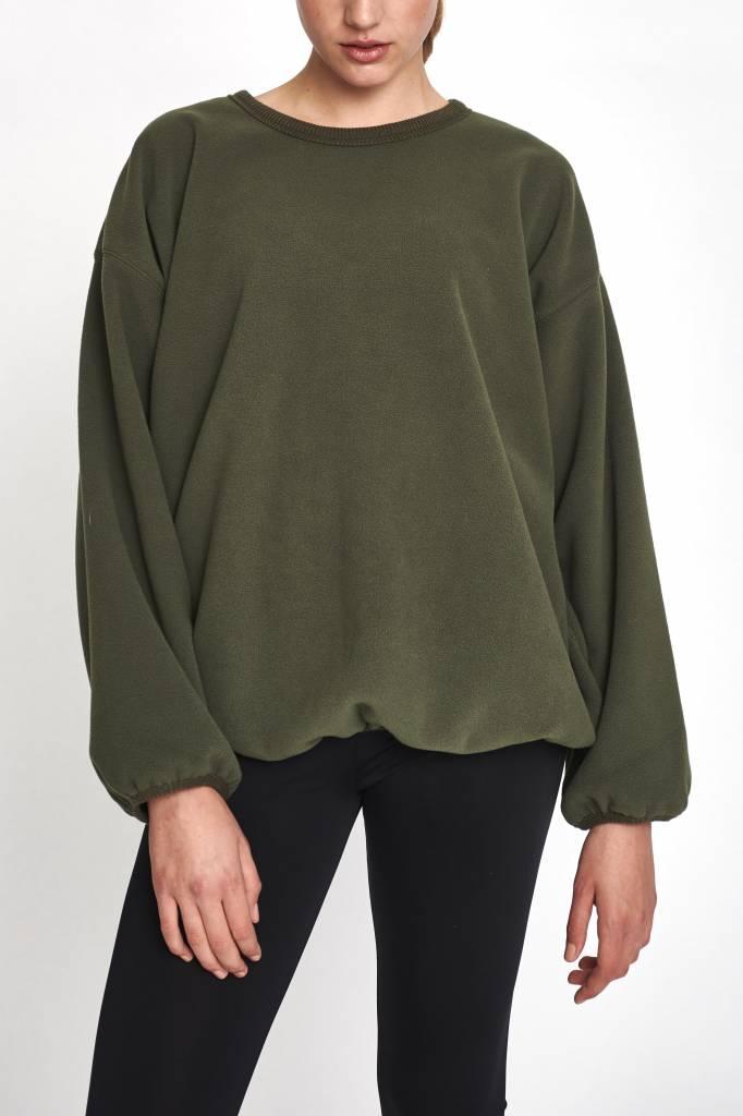 Stand Aloné sweater wide sleeve khaki fleece