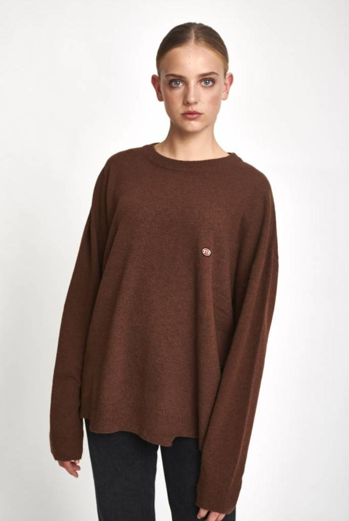 Oversized sweater wool hazelnut