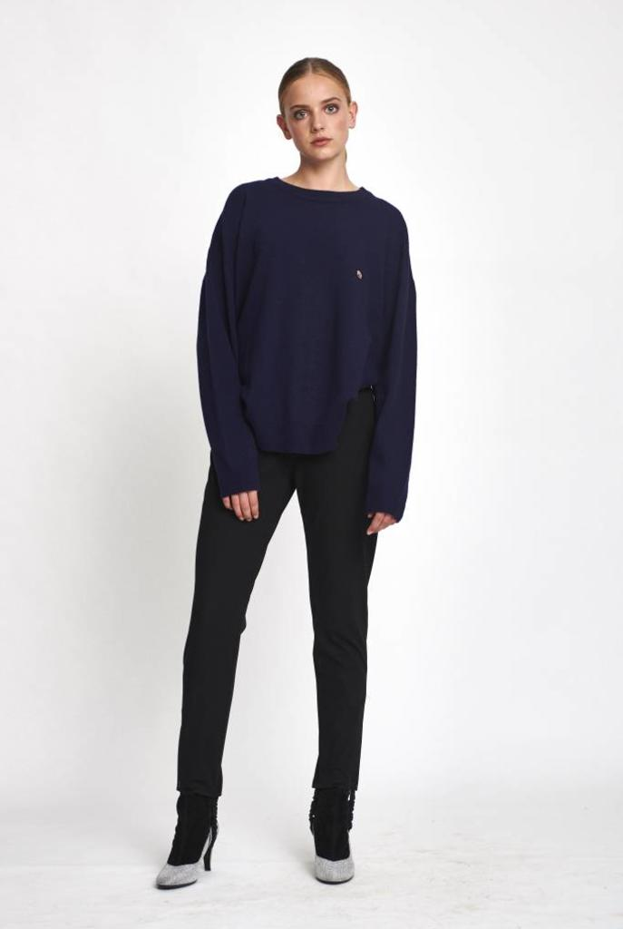 Oversized sweater wool kingsblue