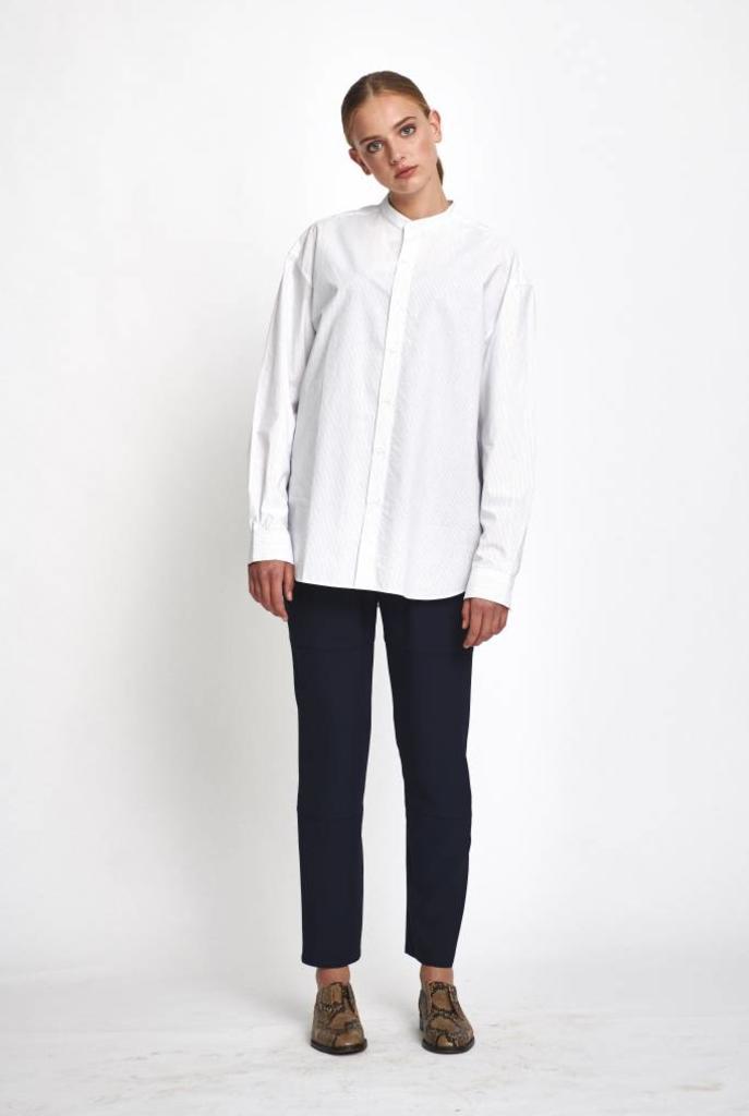 Rivoli oversized blouse white/royal