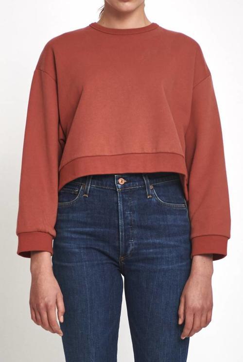Pam cropped sweater marsala