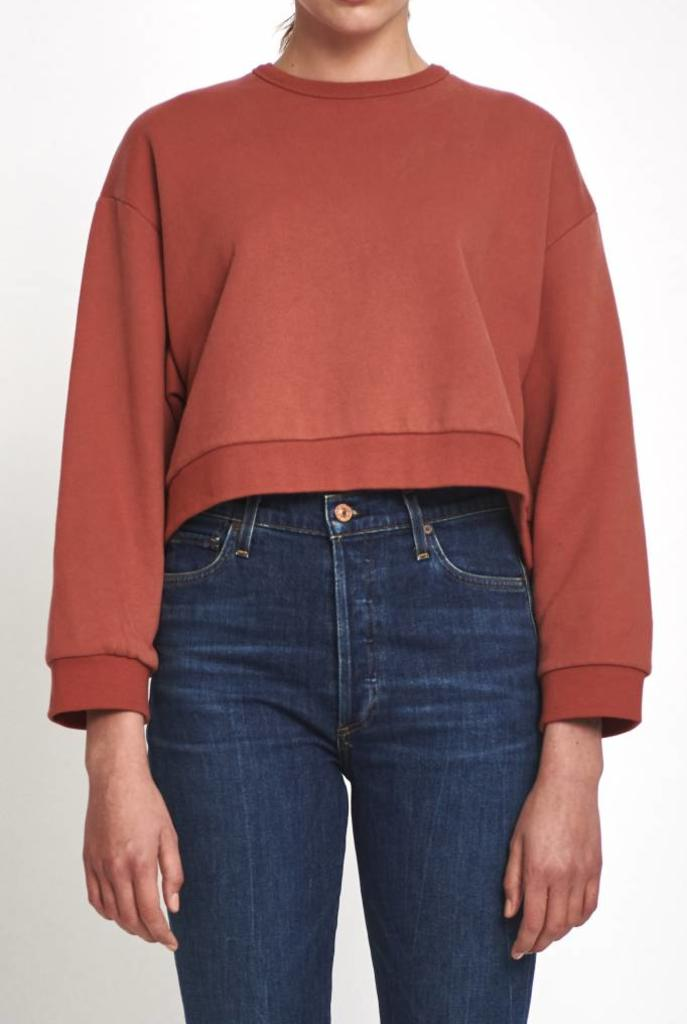 Pam cropped sweater marsala
