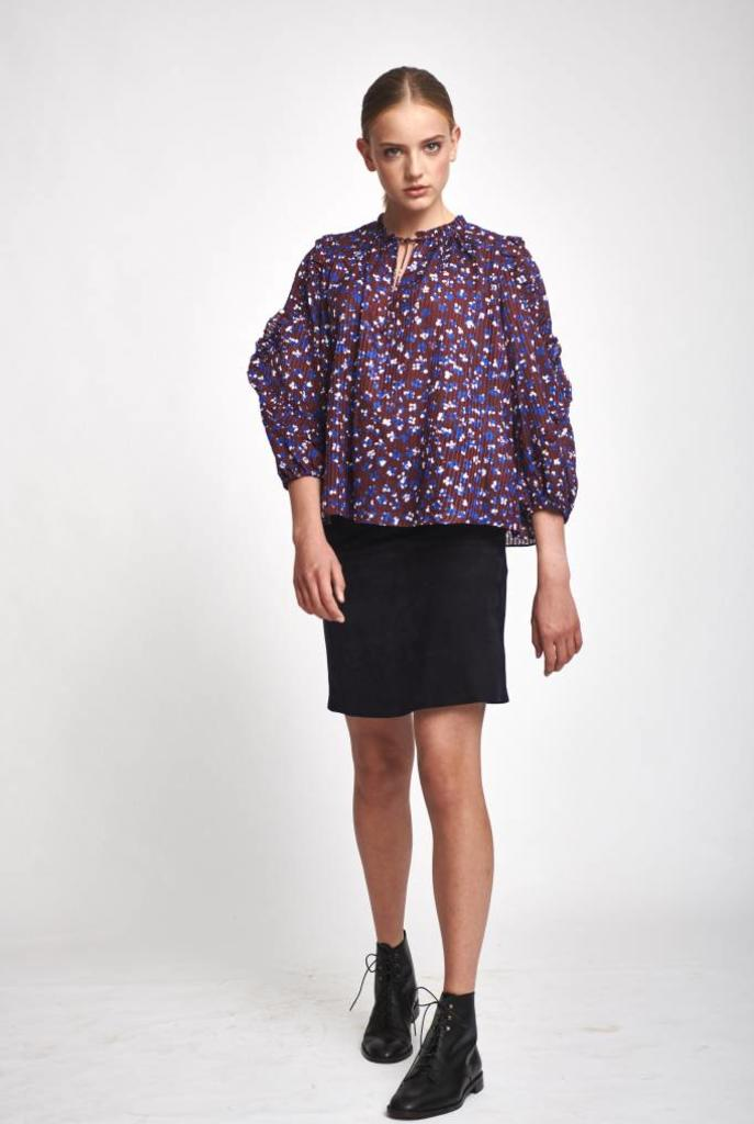Lillian blouse burgundy