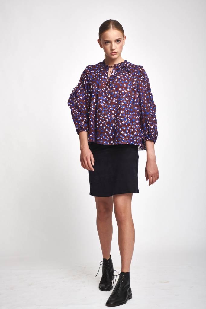 Ulla Johnson Lillian blouse burgundy