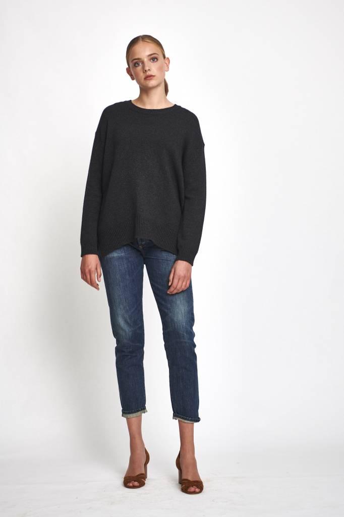 Pomandère wool anthracite sweater