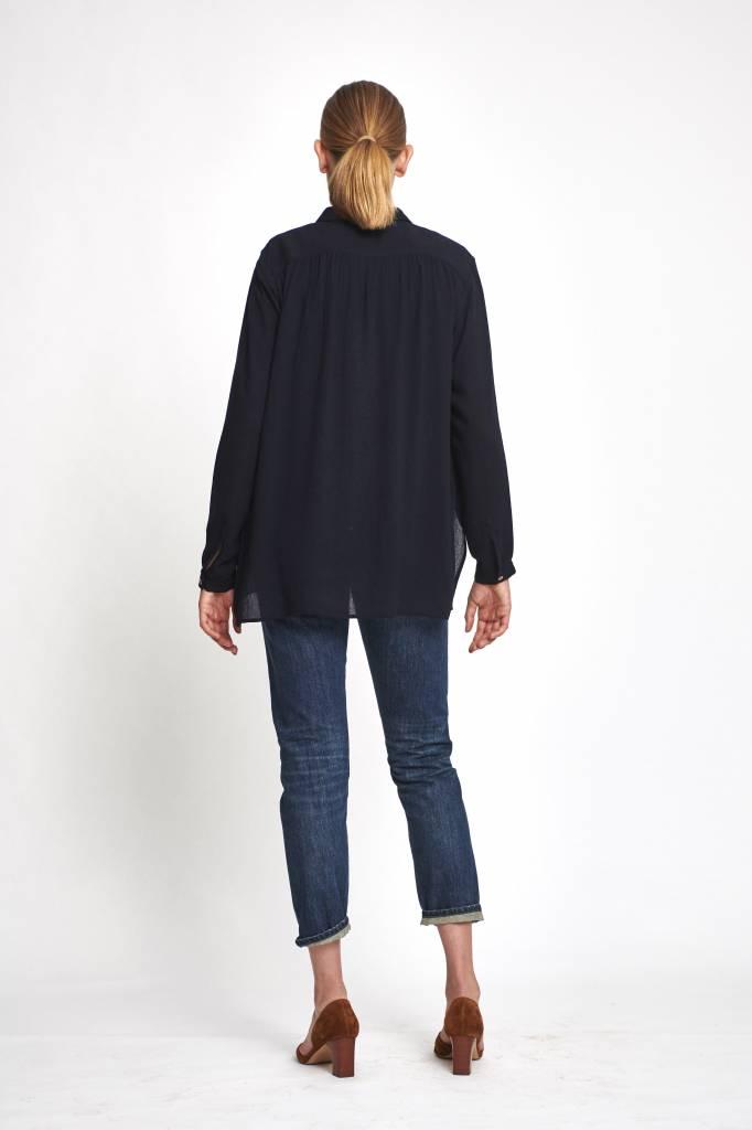 blouse wool  dark blue