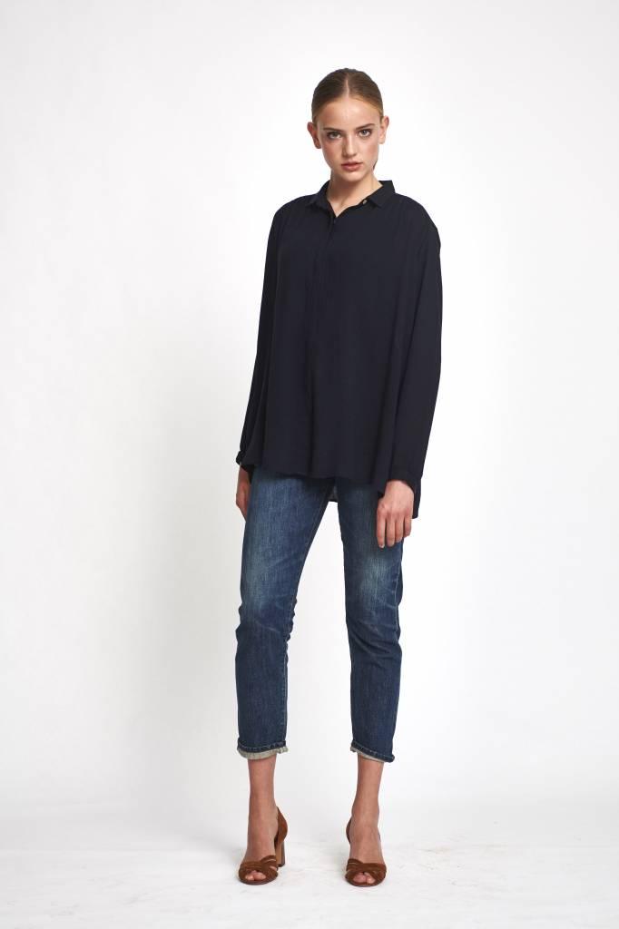 Pomandère blouse wool  dark blue