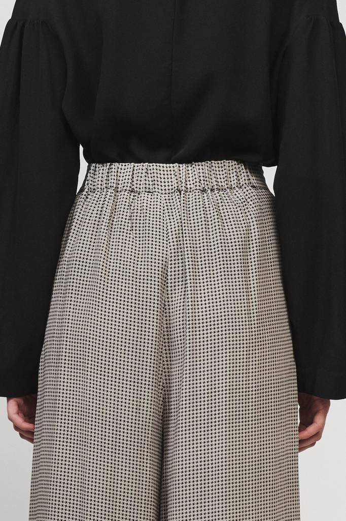 Cecco long pants houndstooth print