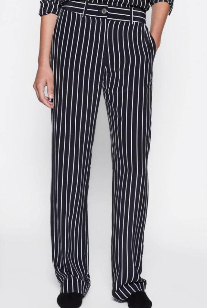 Lita trousers true black stripe