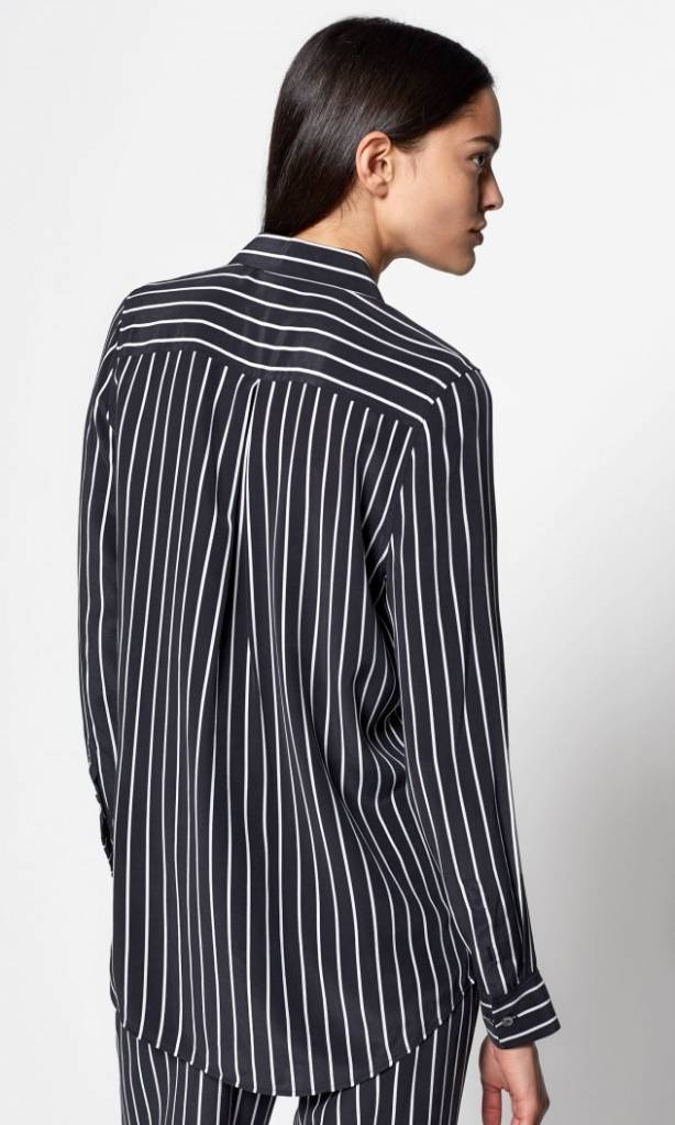 Essential blouse true black stripe