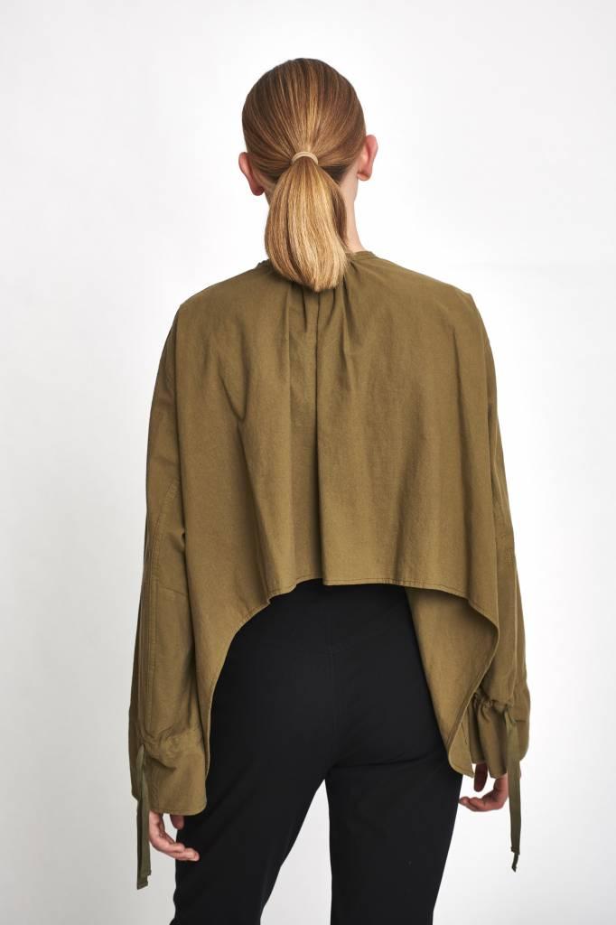 Oversized shirt khaki