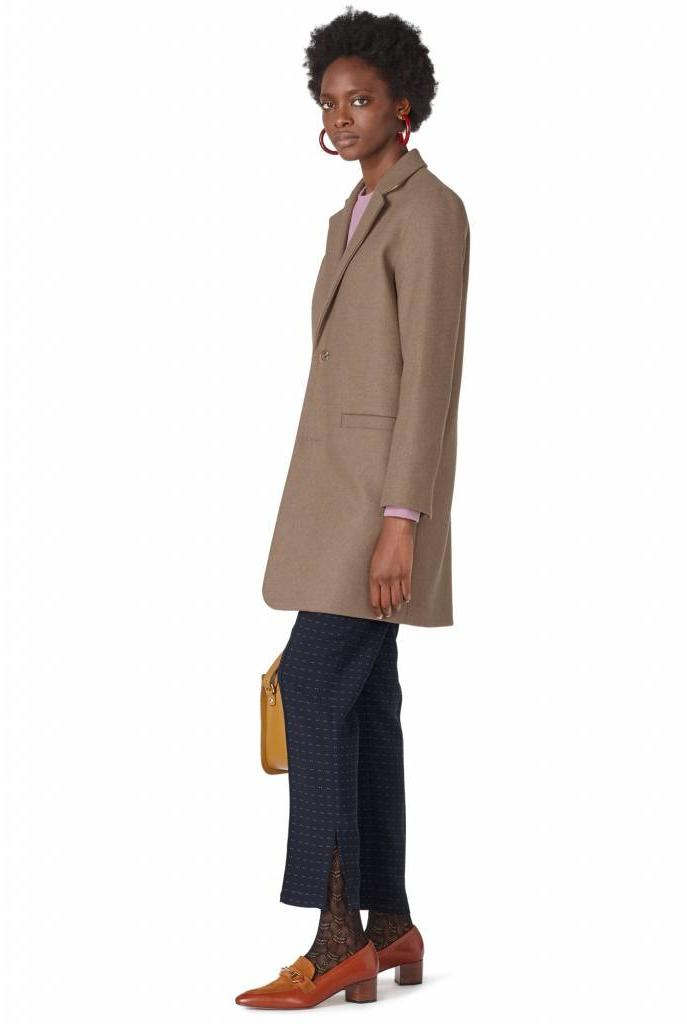 Carver coat taupe