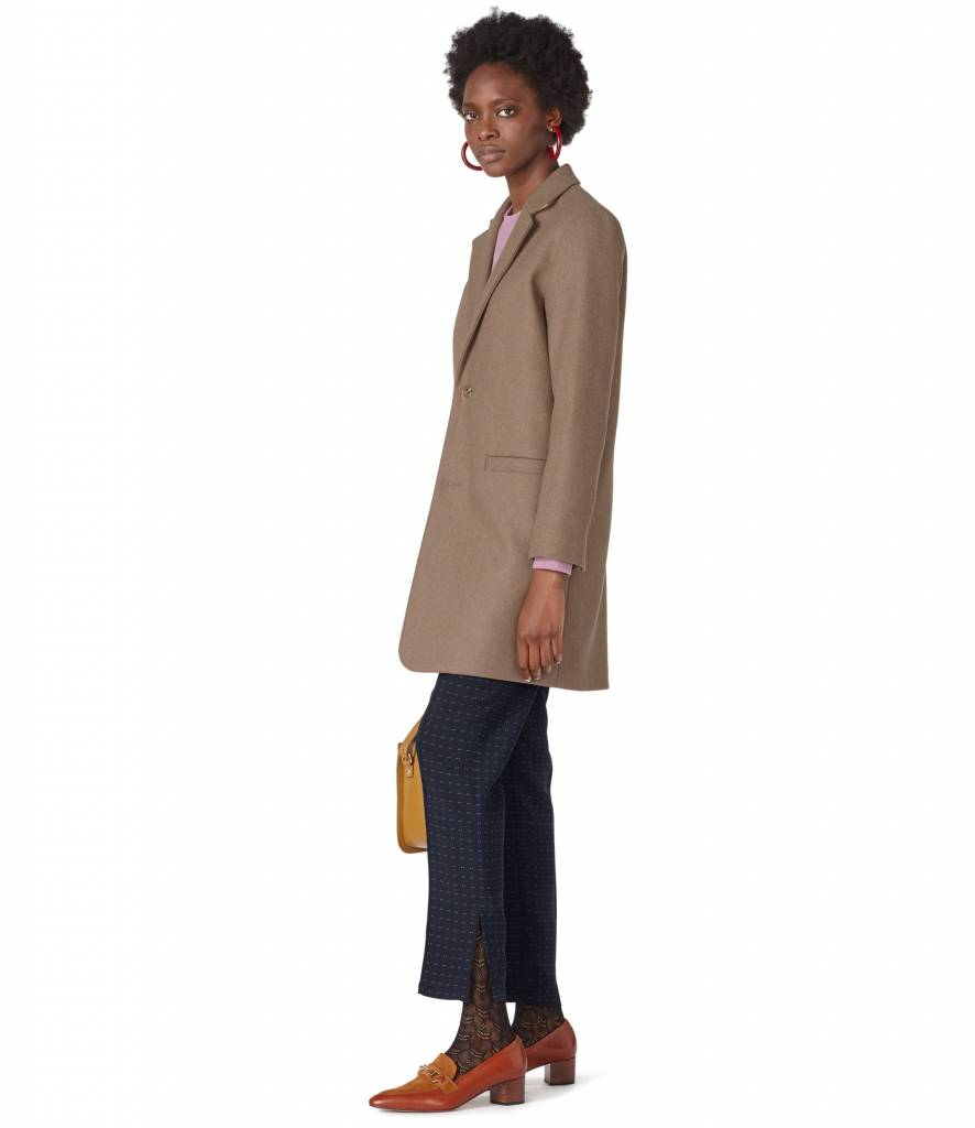A.P.C. Carver coat taupe