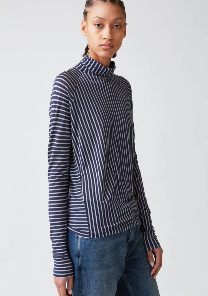 Hope Smart LS tee dark blue stripe