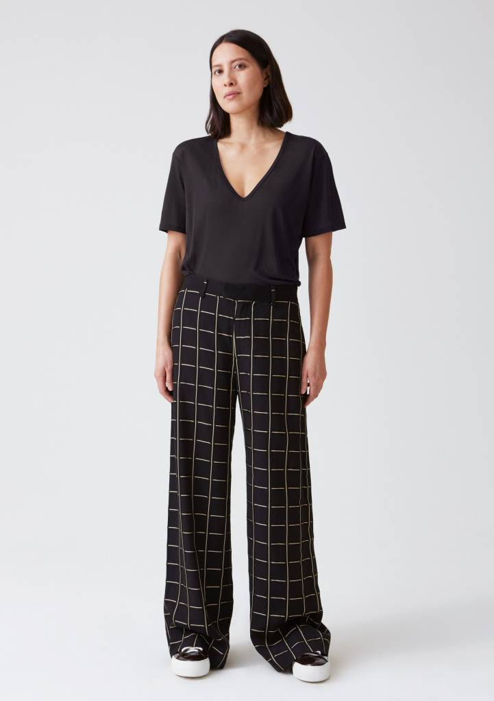 Hope Forty trouser gold check