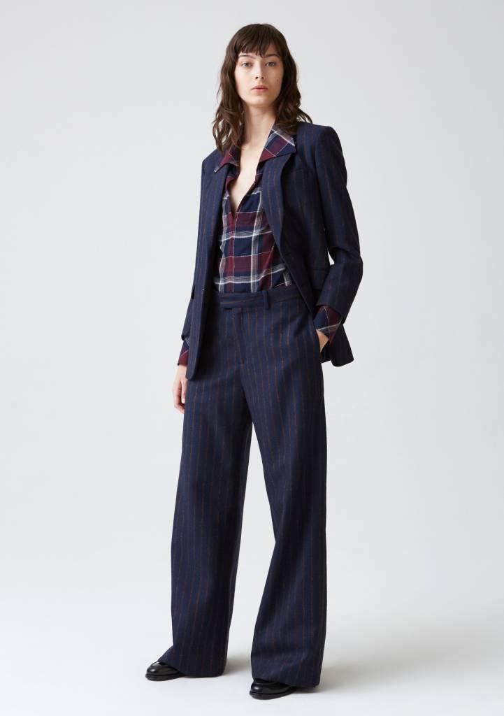 Hope Forty trouser dark blue stripe