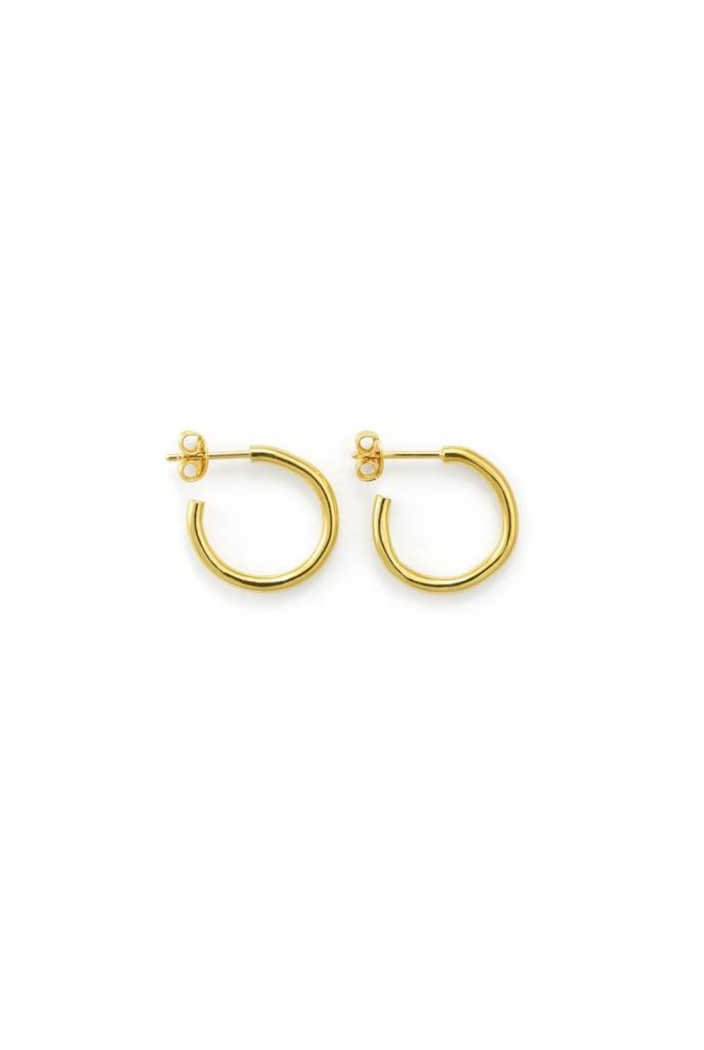 Trochus small earrings gold