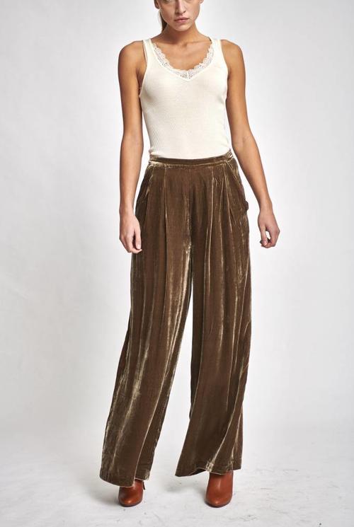 Rhett trousers brown velour
