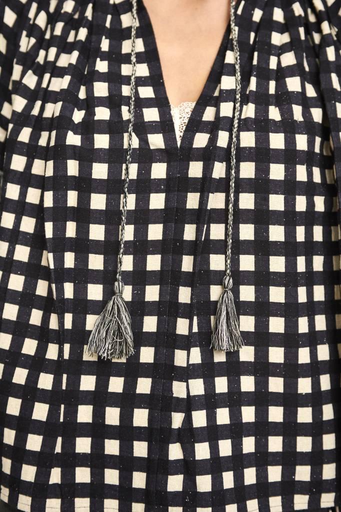 Anouk blouse black square