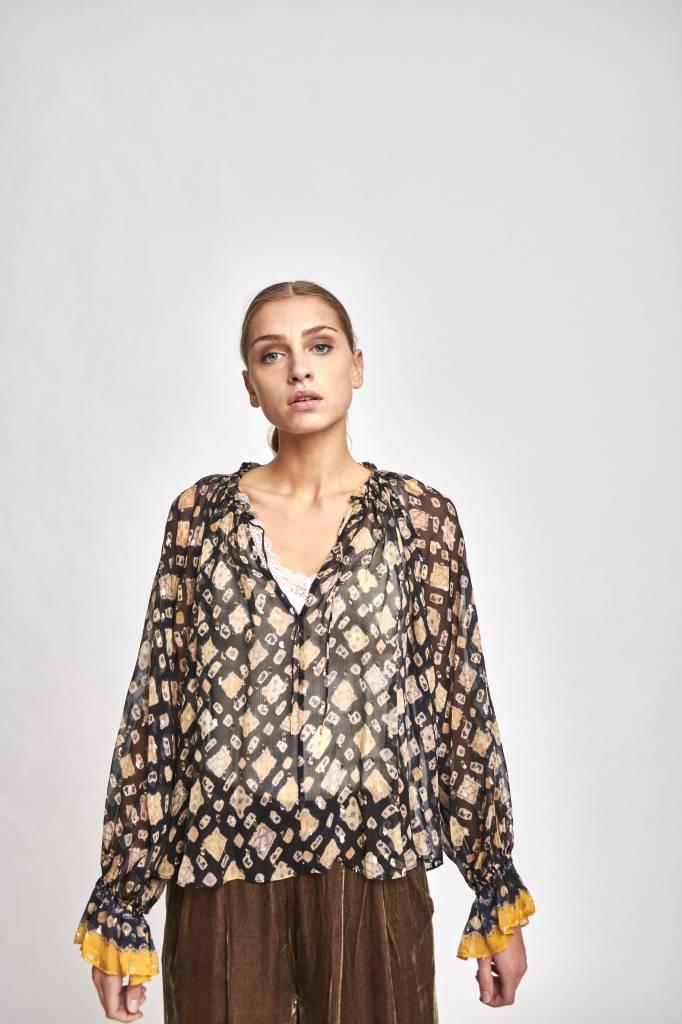 Nailah blouse midnight metallic