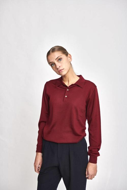Maxime polo burgundy