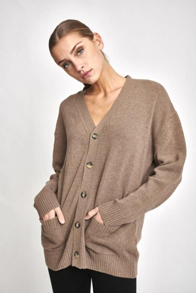 Chloe oversized cardigan brown