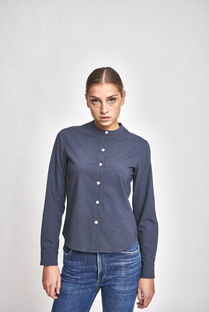 Janey blouse grey blue